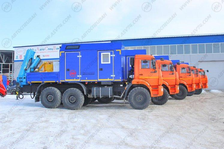 Фото: Агрегат ремонта и обслуживания качалок КАМАЗ 43118-3027-46 с КМУ ИМ-95