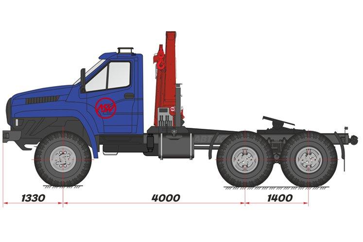Фото: Седельный тягач Урал 44202 NEXT с  КМУ Palfinger 15500