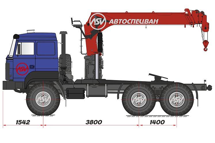 Фото:  Седельный тягач Урал 44202-3511-82 (бескапотный) с КМУ IT-150 (тросовый)