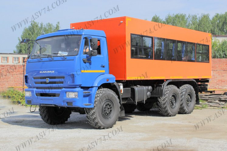 Фото: Вахтовый автобус АСВ 7721 КАМАЗ 5350-3061-42, 28 мест