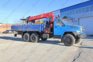 Фото: Бортовой Урал 4320 NEXT (капотный) с КМУ IT-200 (тросовый)