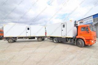 Фото: Передвижной мобильный комплекс на шасси Камаз 43253 и вагон-дома