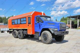 Фото: Автобус вахтовый 14 мест Урал NEXT4320-6952-72 (Е5) Г38, грузовой отсек.