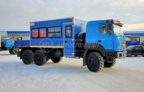 Вахтовый автобус Урал NEXT 4320-4971-80, 18 мест с грузовой платформой