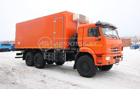 Рефрижератор КамАЗ 43118 с мультитемпературной перегородкой и ХОУ Thermo King