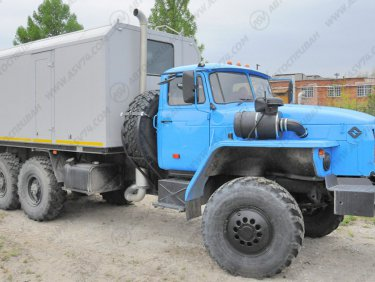 фото: ППУА 1600/100 с на шасси Урал 4320-1912-60 с насосом 1,1 ПТ