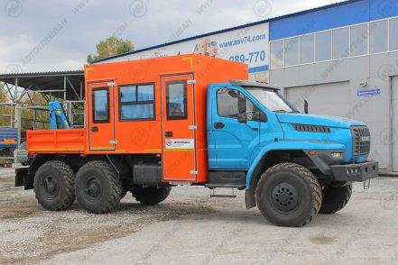 фото: Вахтовый автобус с КМУ Урал 4320-6952-72 NEXT, 12 мест