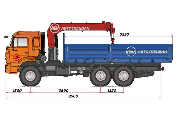 Фото: Бортовой автомобиль КАМАЗ 43118-3049-46 с КМУ ИТ-80 (тросовый)