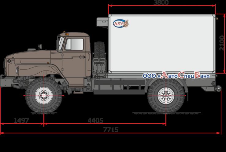 Фото: Изотермический фургон с ХОУ ThermoKing Урал 43206
