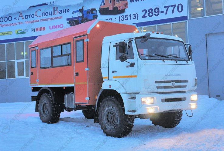 Фото: Вахтовый автобус КАМАЗ 43502-3036-45, 18 мест (ЖД габарит)