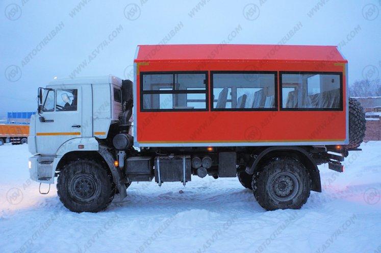 Фото: Вахтовый автобус АСВ 7721 КАМАЗ 43502-3036-45, 18 мест (ЖД габарит)