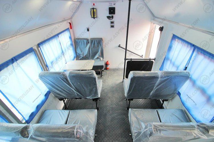 Фото: Вахтовый автобус с бортовой платформой и КМУ ИМ-150 КАМАЗ 43118-3027-50, 10 мест