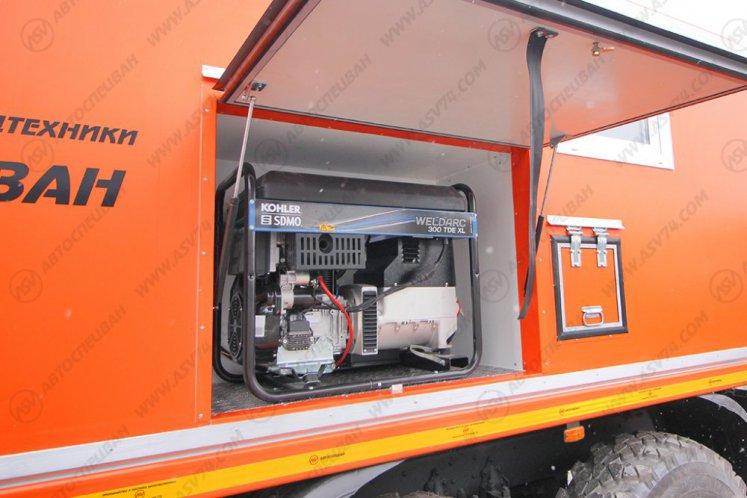 Фото: Передвижная мастерская АСВ 7722G4 Урал-NEXT4320-6952-72(Е5)Г38 с отсеком для перевозки людей
