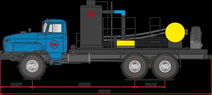 Фото: Агрегат депарафинизации скважин АДПМ 12/150 на шасси УРАЛ 4320-70