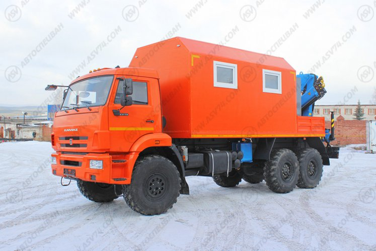 Фото: Агрегат ремонта и обслуживания качалок АРОК КАМАЗ 43118 с КМУ ИМ-95