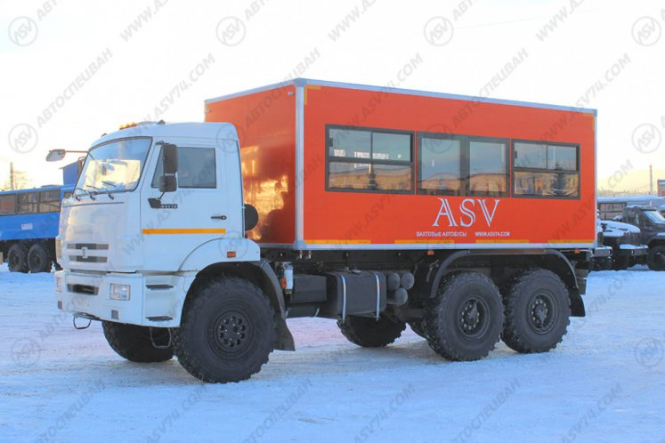 Фото: Вахтовый автобус АСВ 7721 КАМАЗ 43118-3027-46, 22 места