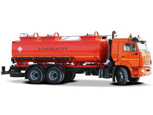 Фото: Автоцистерна для светлых ГСМ (бензовоз) АЦ-16 на шасси КАМАЗ-65115