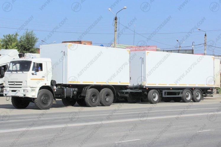 Фото: Изотермический фургон КамАЗ 65111 (автопоезд)