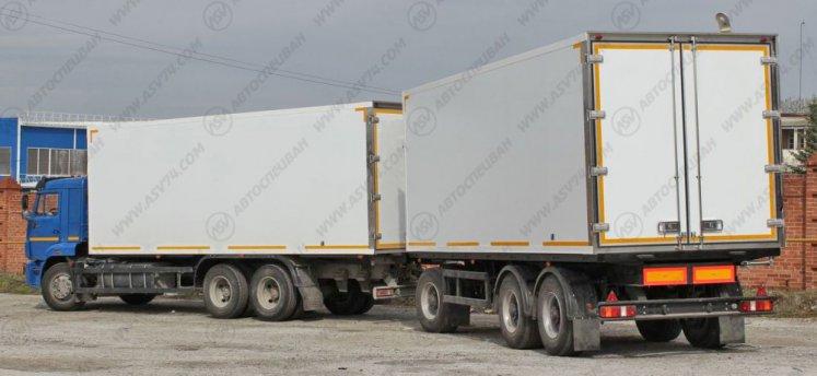 Фото: Изотермический фургон КамАЗ 65117 (автопоезд)