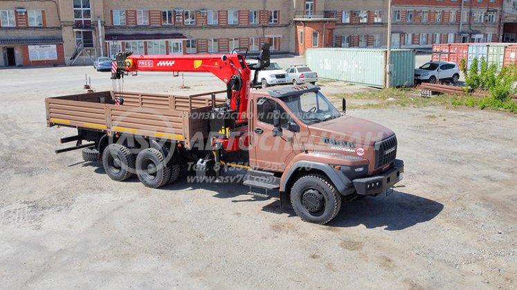 Фото: Бортовой автомобиль Урал 73945-6921-01 с КМУ FASSI F155T (Тросовой)