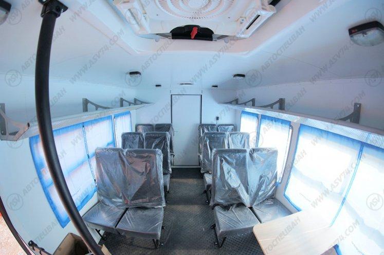 Фото: Вахтовый автобус с грузовым отсеком КАМАЗ 43118-3027-46, 14 мест