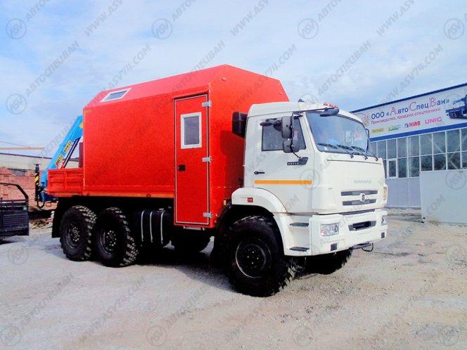 Фото: Агрегат ремонта и обслуживания качалок КАМАЗ 43118 с КМУ ИМ-50