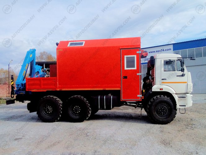 Фото: Агрегат ремонта и обслуживания качалок АРОК КАМАЗ 43118 с КМУ ИМ-50