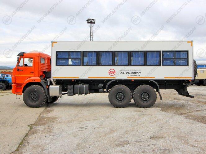 Фото: Вахтовый автобус  КАМАЗ 43118-3027-50, 32 места