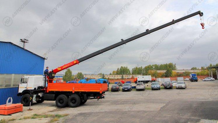 Фото: Бортовой автомобиль МАЗ 6317F9 с КМУ ИТ-150