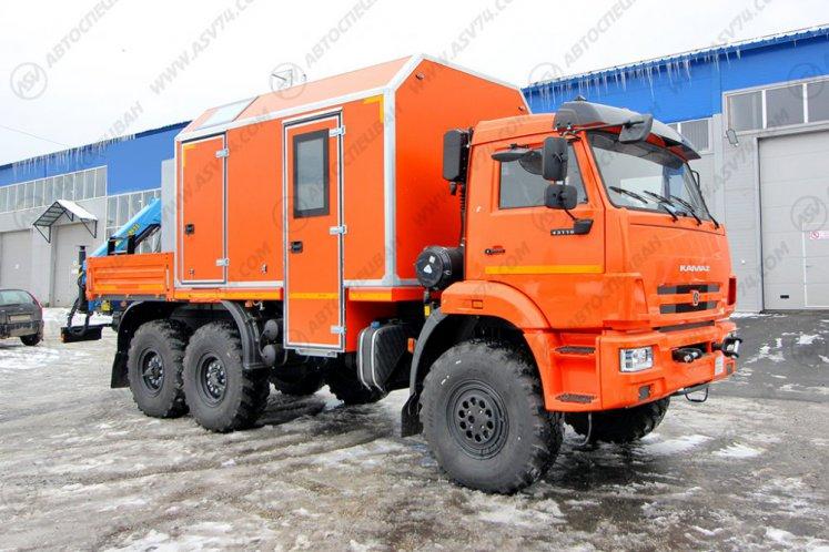 Фото: Передвижная мастерская ПАРМ КамАЗ 43118-3027-50 с КМУ ИМ-55