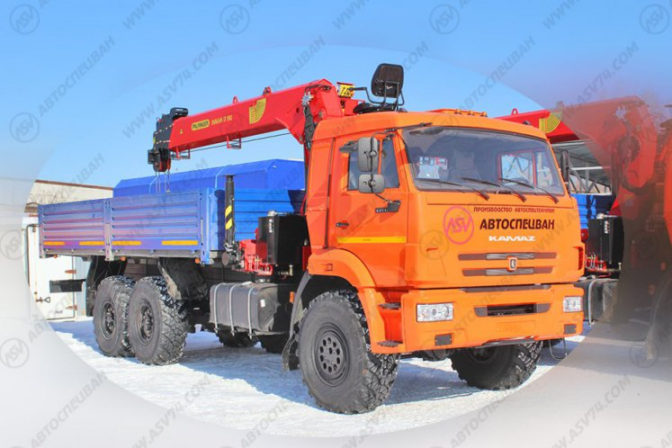 Фото: Бортовой автомобиль КАМАЗ 43118 с КМУ ИТ-150 (тросовый)