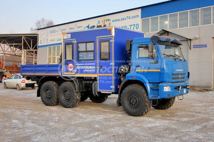 Фото: Вахтовый автобус с бортовой платформой КАМАЗ 43118-3027-50, 8 мест