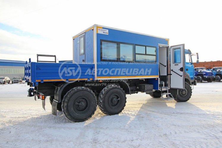 Фото: Вахтовый автобус Урал 4320-4971-80, 16 мест с грузовой платформой