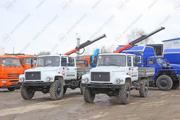 Фото: Бортовой автомобиль ГАЗ 33088 Егерь с КМУ Palfinger 1500