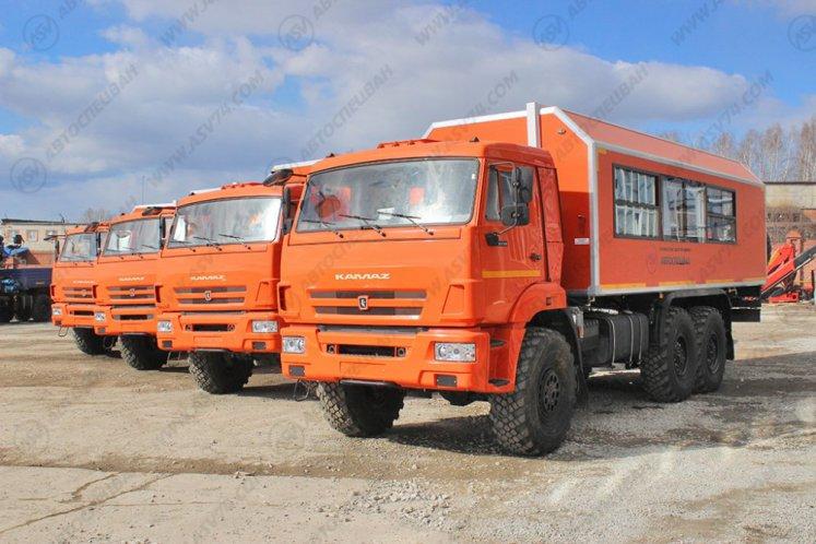 Фото: Вахтовый автобус с грузовым отсеком КАМАЗ 43118-3027-46, 22 места (ЖД габарит)