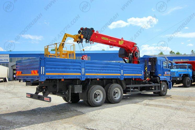 Фото: Бортовой автомобиль КАМАЗ 65117-3010-48 с КМУ ИТ-200