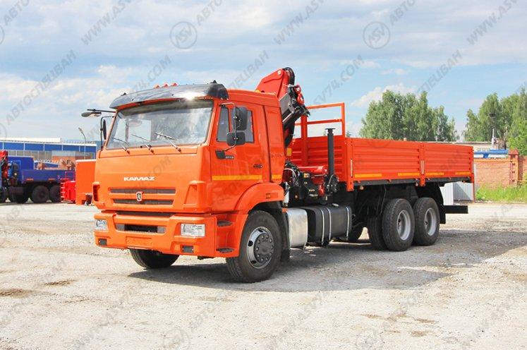 Фото: Бортовой автомобиль КАМАЗ 65115 с КМУ Palfinger 15500