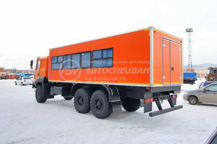 Фото: Вахтовый автобус Урал 4320-4971-80, 24 места с грузовым отсеком