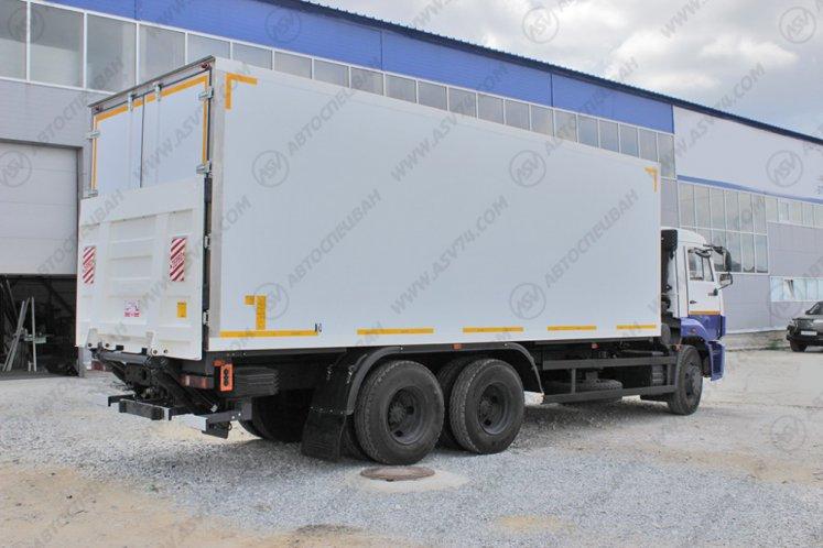 Фото: Изотермический фургон КамАЗ 65115-3094-19 с ХОУ и гидробортом