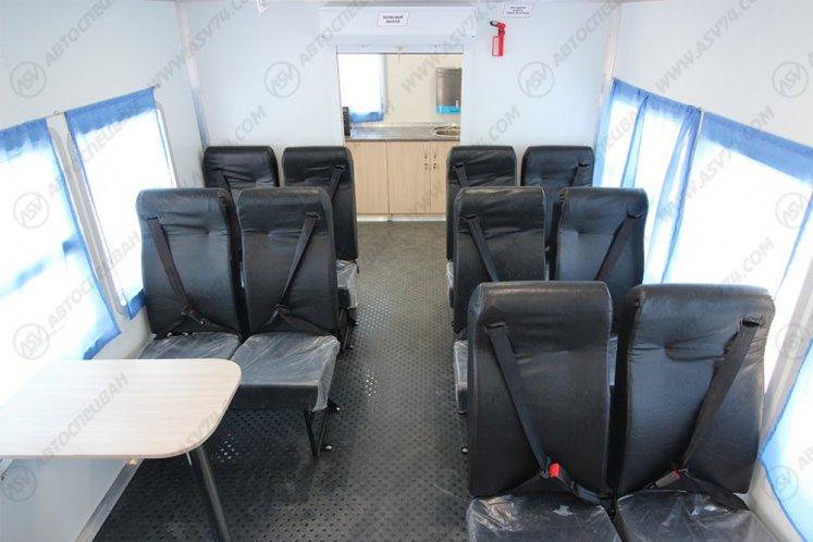 Фото: Вахтовый автобус с бытовым отсеком (кухней), КАМАЗ 43118-3027-50, 14 мест