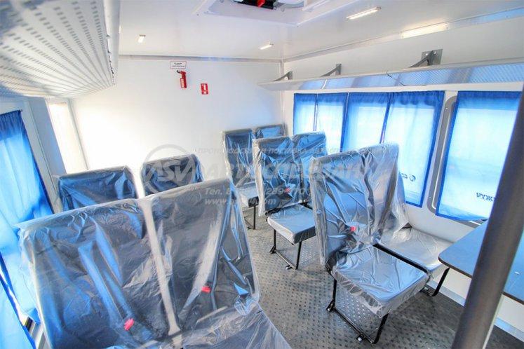 Фото: Вахтовый автобус с грузовой платформой Урал 4320-6952-72 NEXT, 12 мест