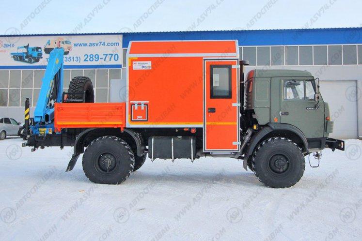 Фото: Агрегат ремонта и обслуживания качалок АРОК КАМАЗ 43502-66 с КМУ ИМ-50