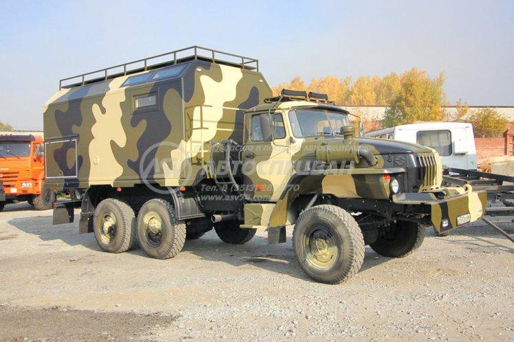 Фото: Автомобиль охотник на шасси Урал 4320