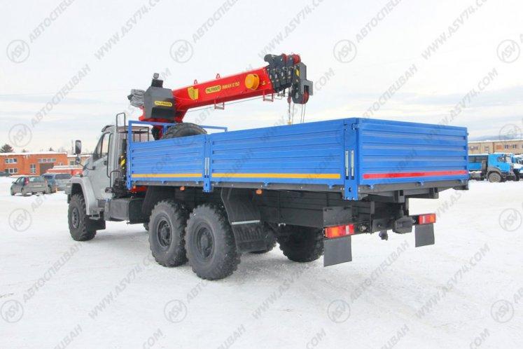 Фото: Бортовой автомобиль Урал 4320 NEXT (капотный) с КМУ IT-150 (тросовый)