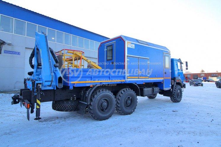 Фото: Маслостанция (без бочек) Урал 4320-4952-82 с КМУ ИМ-150