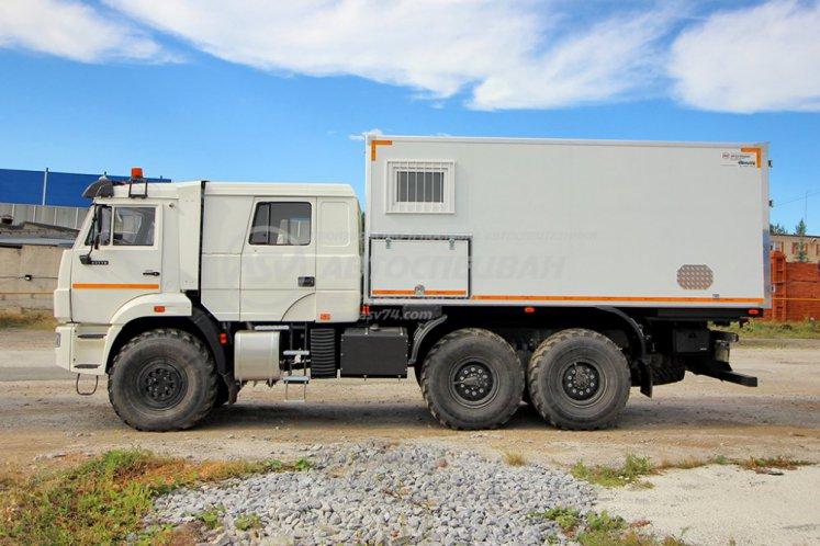 Фото: Автомобиль для перевозки взрывчатых веществ (EX/III). КамАЗ 43118-50 Двухрядная кабина