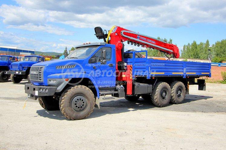 Фото: Бортовой Урал 4320 NEXT (капотный) с КМУ Taurus 086A (тросовый)