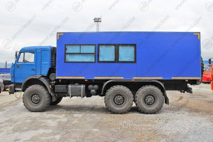 Фото: Вахтовый автобус АСВ 7721 с грузовым отсеком КАМАЗ 43118-3027-46, 14 мест