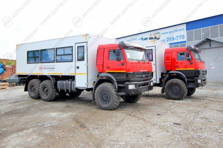 Фото: Вахтовый автобус КАМАЗ 43118-3027-50, 22 места с грузовым отсеком