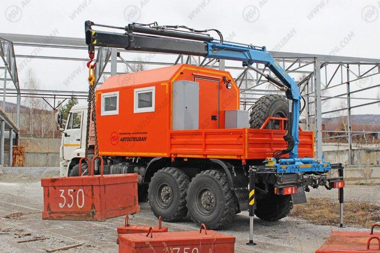 Фото: Агрегат наземного ремонта водоводов КамАЗ 43118-3027-46 с КМУ ИМ-25